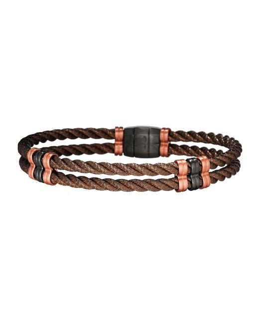 Jan Leslie - Multicolor Men's Bronze 925 Sterling Silver Double-cable Bracelet for Men - Lyst