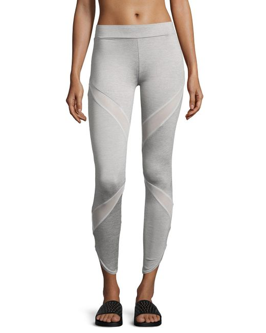 PUMA | Gray Evo Mesh Insert Performance Leggings | Lyst