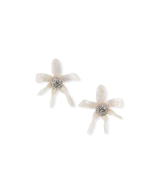 Lele Sadoughi - Multicolor Water Lily Button Earrings - Lyst