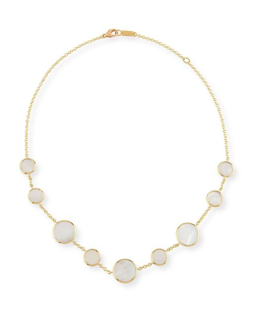 Ippolita | Metallic 18k Polished Rock Candy Circle Station Necklace In Mother-of-pearl | Lyst