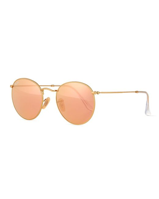 Ray-Ban - Multicolor Mirrored Round Metal Sunglasses - Lyst