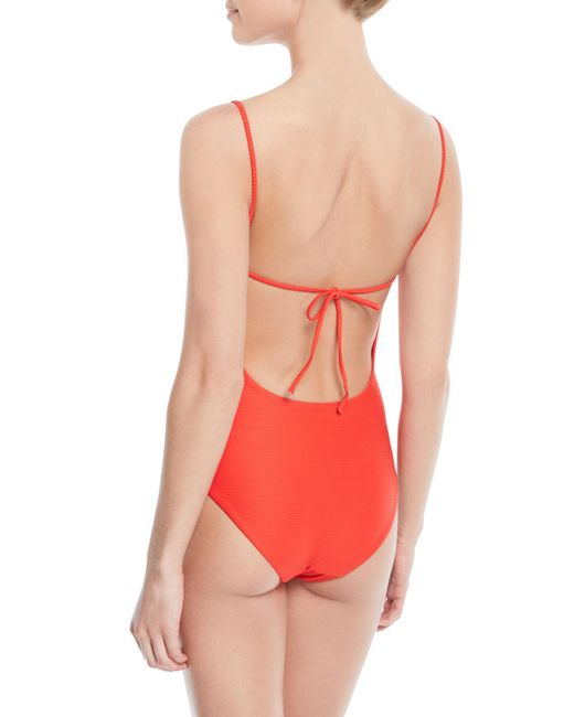 4e3d7f7be1ed8 ... Onia - Red Gloria V-neck One-piece Swimsuit - Lyst