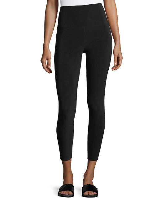 Norma Kamali | Black Cropped High-waist Leggings | Lyst