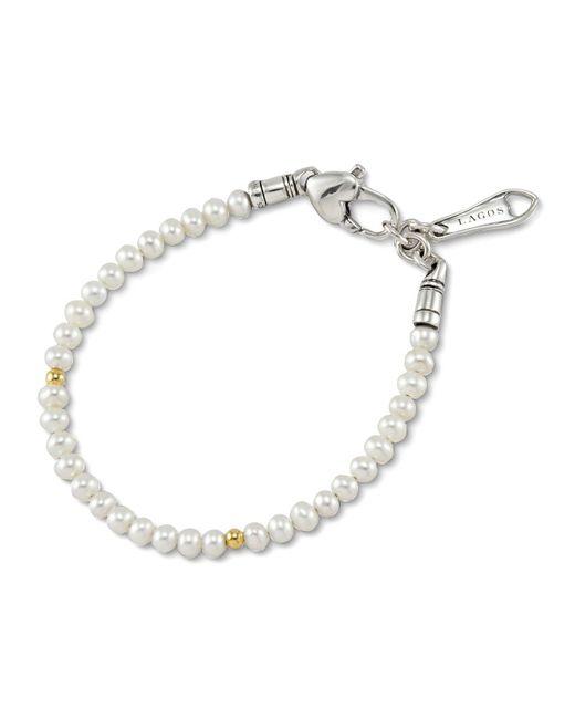 Lagos - Metallic Kinder Pearl & Gold Cavier Bracelet - Lyst