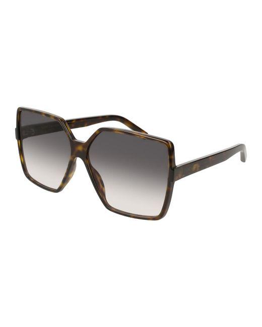 Saint Laurent - Brown Sl 232 Betty Oversized Square Gradient Sunglasses - Lyst