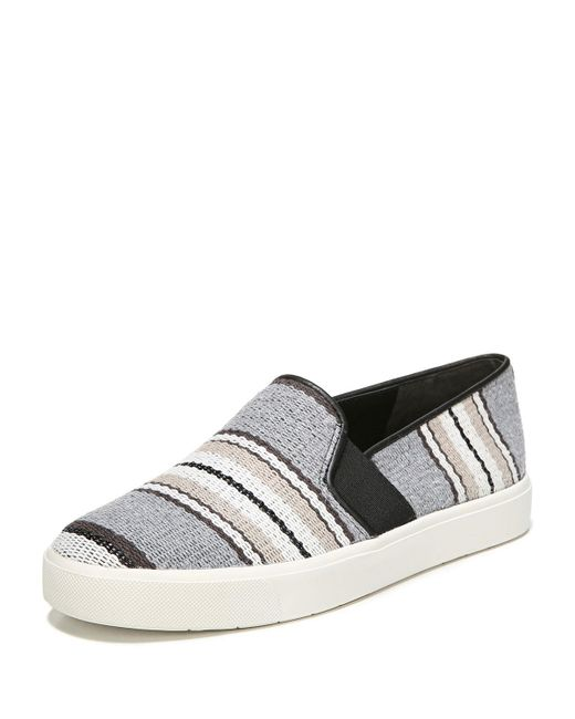 Vince - Multicolor Blair Striped Leather Sneakers - Lyst