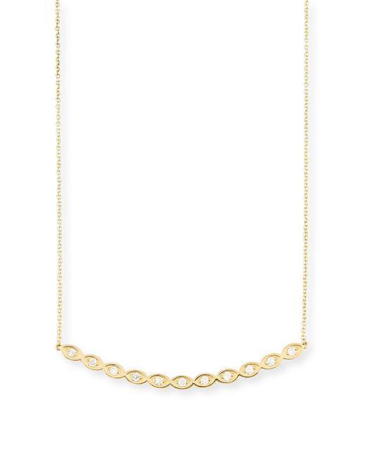Sydney Evan - Multicolor Diamond Evil Eye Bar Pendant Necklace - Lyst