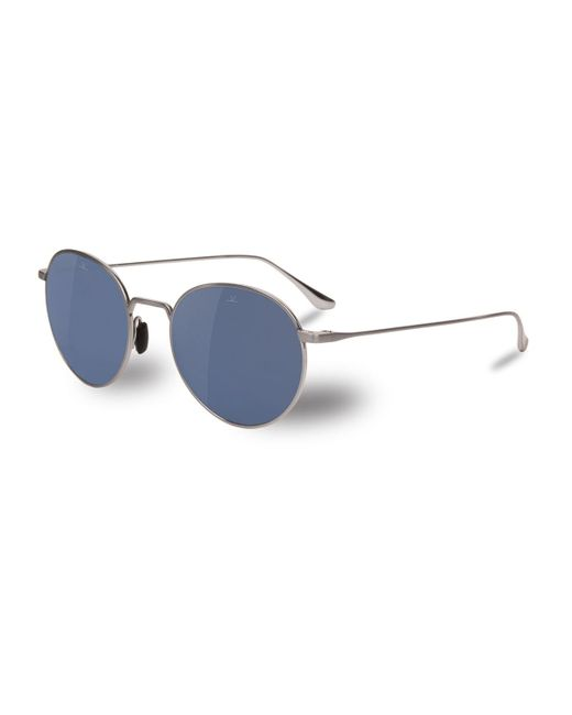 Vuarnet - Metallic Swing Small Round Titanium Sunglasses - Lyst