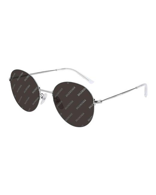 a61baafd27e Balenciaga - Metallic Men s Round Unisex Metal Sunglasses for Men - Lyst