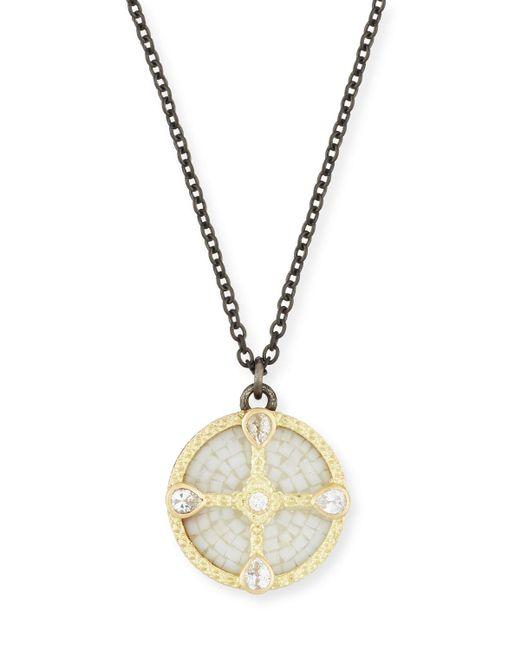 Armenta   Metallic Old World Mosaic Shield Pendant Necklace With Diamonds & Sapphires   Lyst