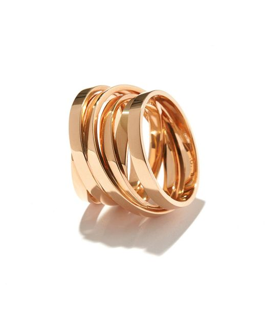 Repossi - Metallic Technical Berbère Ring In 18k Rose Gold - Lyst