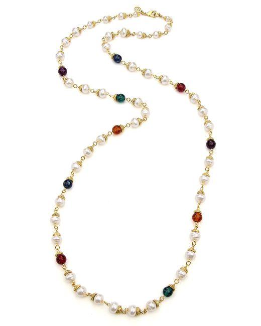 Ben-Amun - Metallic Multicolor Long Beaded Necklace - Lyst