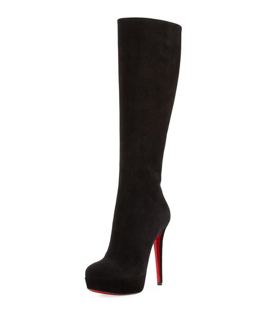 Christian Louboutin - Black Bianca Botta Suede Red Sole Boot - Lyst