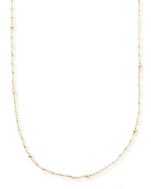 Mizuki - Metallic 14k Gold-beaded Station Necklace - Lyst