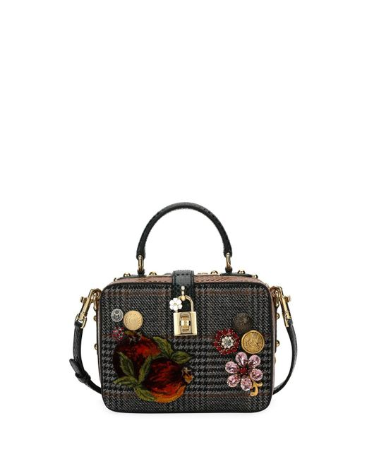 Dolce & Gabbana   Black Dolce Soft Plaid Top-handle Bag   Lyst