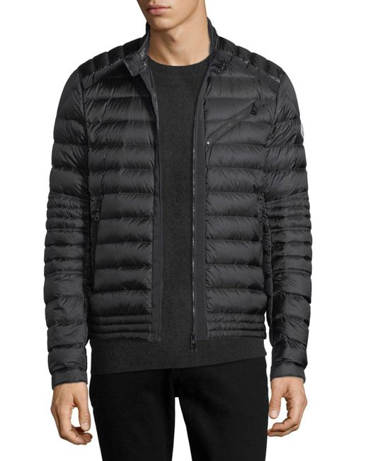 lyst moncler royat puffer jacket in black for men. Black Bedroom Furniture Sets. Home Design Ideas
