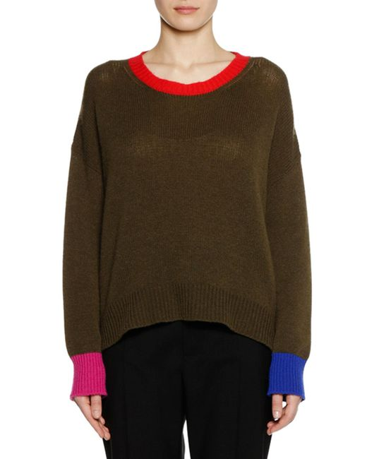Marni - Green Cashmere Sweater - Lyst