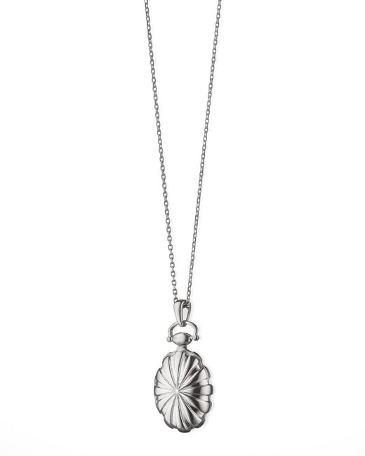 Monica Rich Kosann | Metallic Petite Sunburst Locket Necklace | Lyst
