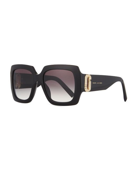 Marc Jacobs - Black Neiman Marcus 110th Anniversary Edition Square Sunglasses - Lyst