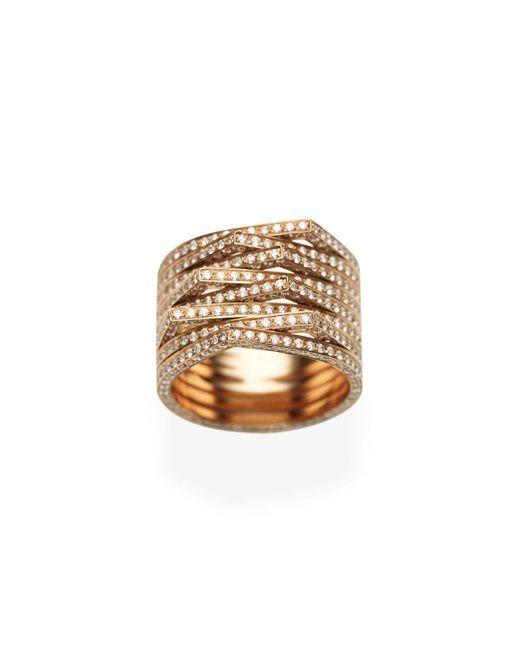 Repossi - Antifer Eight-row Ring With Diamonds In 18k Black Gold - Lyst