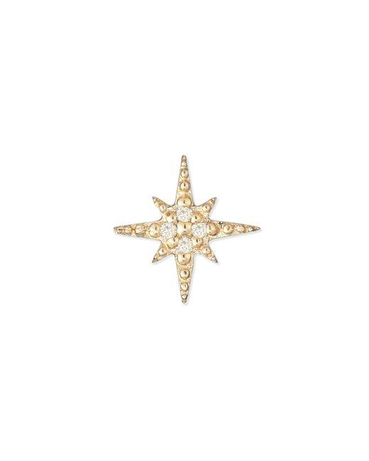 Sydney Evan | Metallic Starburst Diamond Single Stud Earring | Lyst
