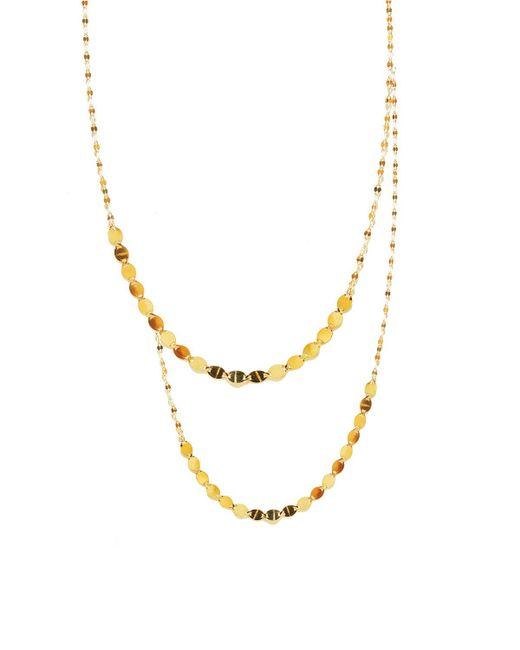 Lana Jewelry | Metallic 14k Nude Duo Layering Necklace | Lyst