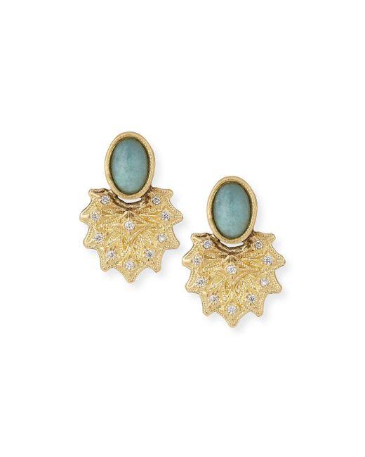 Armenta - Multicolor Old World 18k Starburst Aquaprase Stud Earrings - Lyst