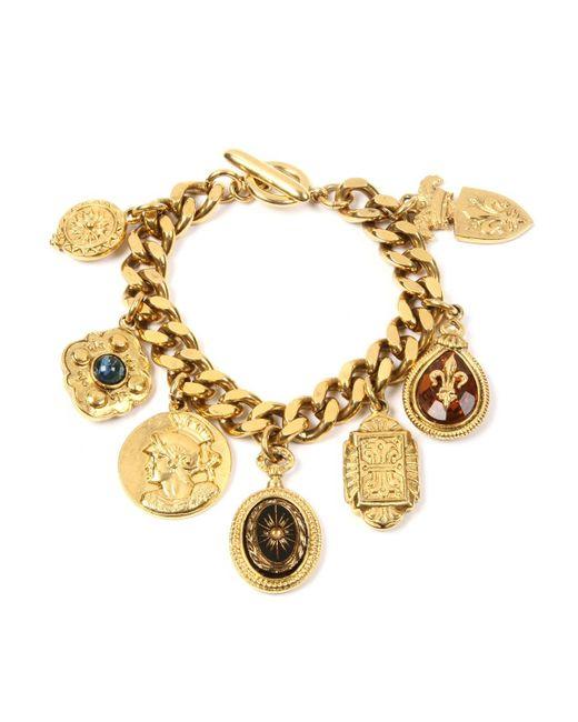 Ben-Amun - Metallic Royal Queen Charm Bracelet - Lyst