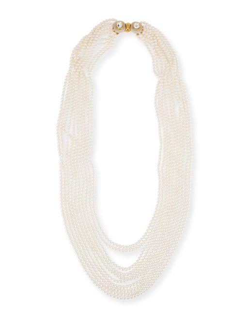 Oscar de la Renta | White Multi-strand Simulated Pearl Necklace | Lyst