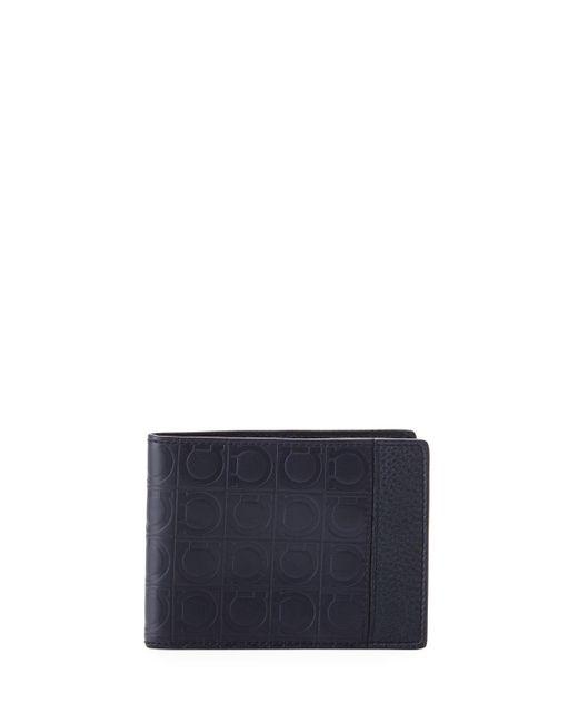 Ferragamo - Blue Men's Firenze Gamma Bi-fold Card Case for Men - Lyst