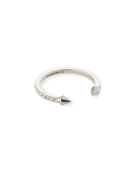 Vita Fede | Metallic Super Ultra Mini Titan Ring With Crystals | Lyst