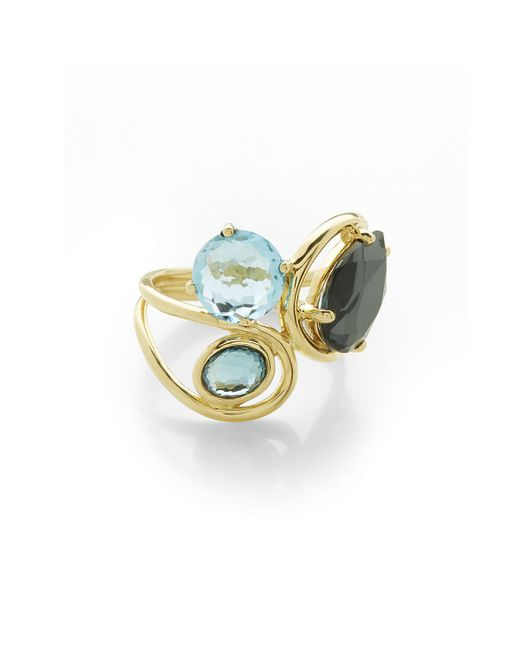 Ippolita | Blue 18k Rock Candy® Squiggle Ring In Midnight Rain | Lyst