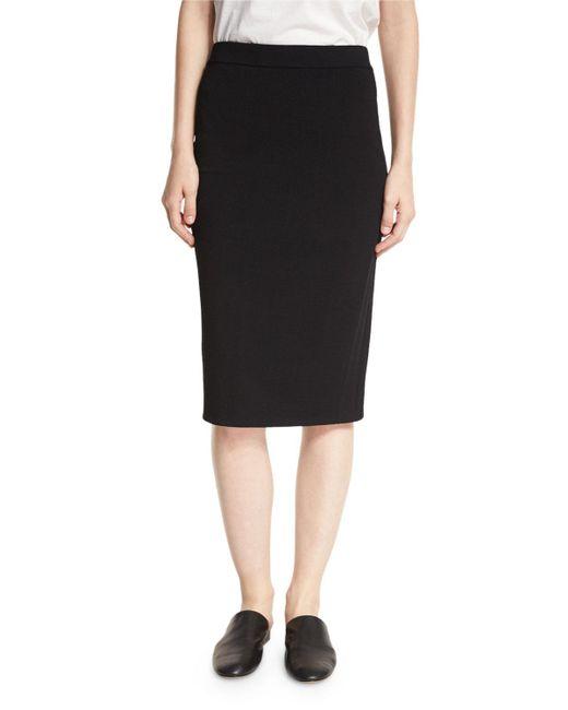 Vince   Black Jersey Pencil Skirt   Lyst