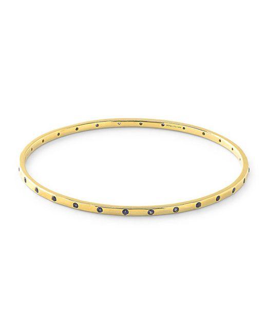Ippolita - Metallic 18k Gold Glamazon Stardust Thin 28-sapphire Bangle - Lyst