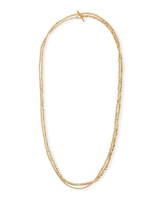 Brunello Cucinelli | Metallic Golden Wrap Bracelet | Lyst