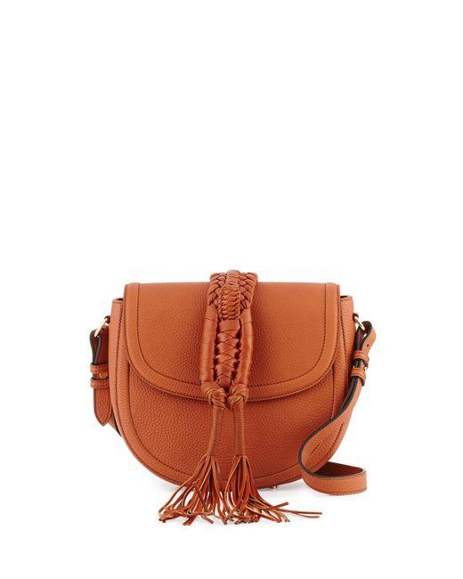 Altuzarra   Brown Ghianda Small Woven Knot Saddle Bag   Lyst