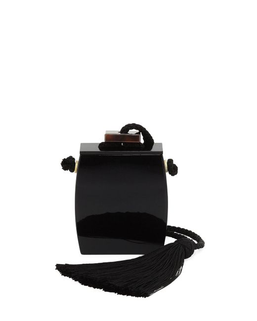 The Row - Black Resin Inrou Tassel Clutch Bag - Lyst