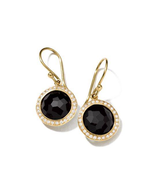 Ippolita - Black 18k Mini Lollipop Earrings With Diamonds - Lyst