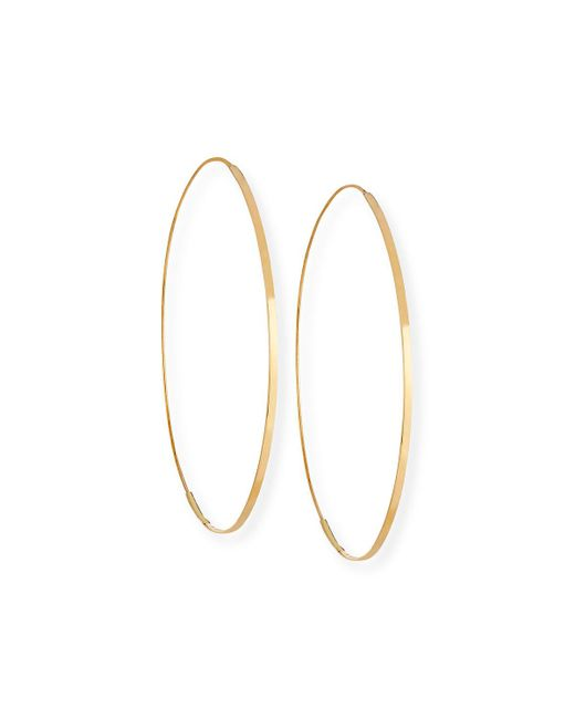 Lana Jewelry - Metallic Flat Magic 14k Hoop Earrings - Lyst