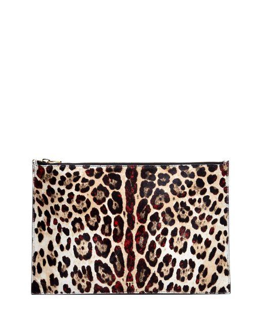 Tom Ford - Multicolor Leopard-print Calf Hair Pouch Bag - Lyst