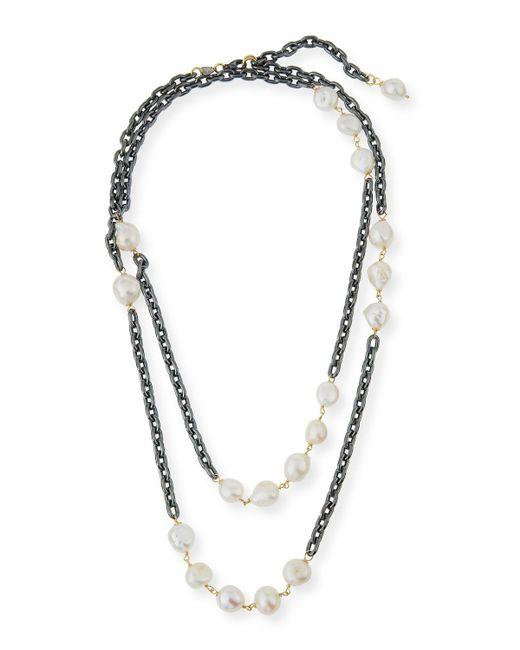 Grazia And Marica Vozza | Multicolor Chain Necklace With Pearls | Lyst