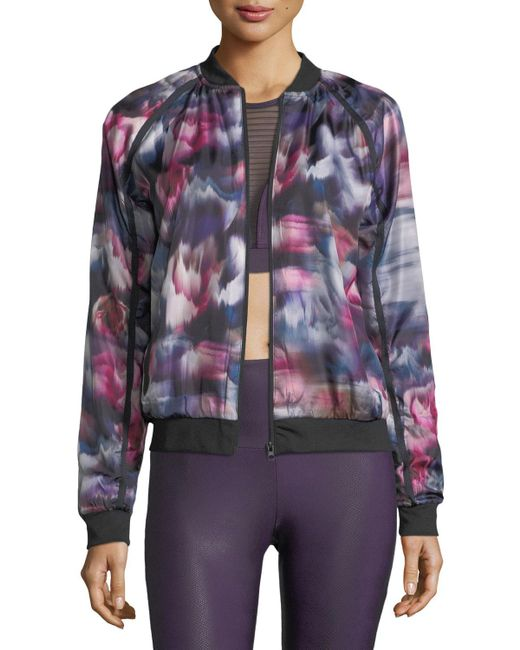 Onzie | Multicolor Fast Flower Performance Bomber Jacket | Lyst