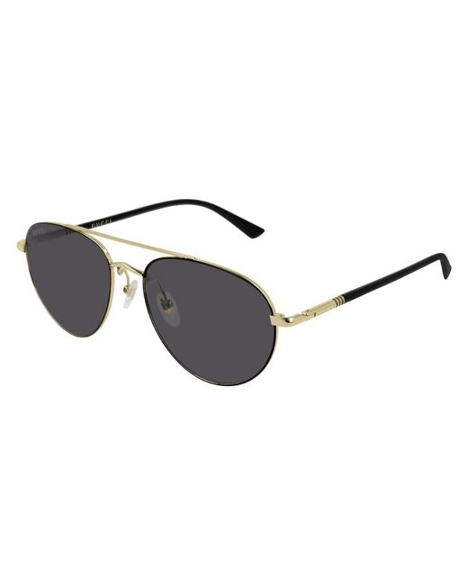 bc49cc1383 Gucci - Metallic Men s GG0388S006M Metal Aviator Sunglasses for Men - Lyst