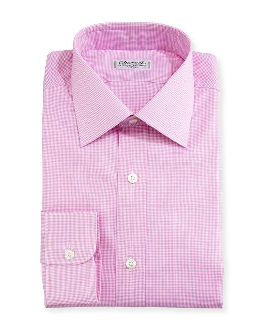 Charvet | Pink Mini-check Dress Shirt for Men | Lyst
