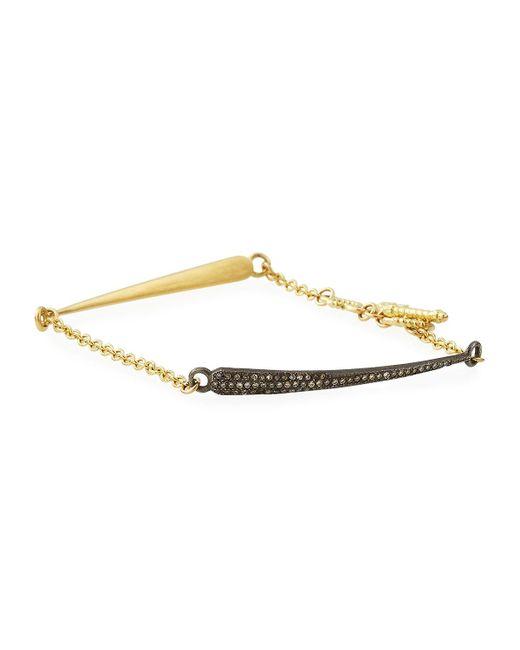 Armenta - Metallic 18k Old World Diamond Dagger Chain Bracelet - Lyst