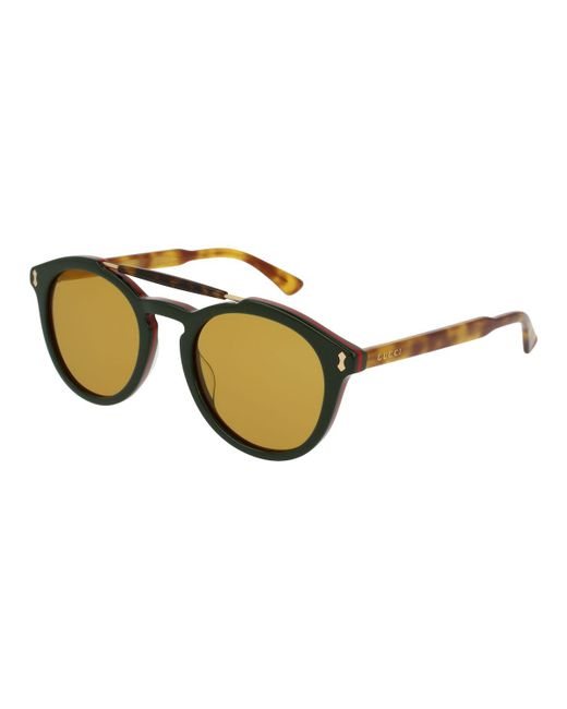 Gucci - Green Vintage Round Acetate Sunglasses - Lyst