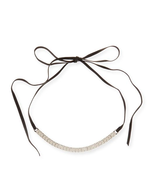 Fallon | Multicolor Armure Watch Strap Leather Choker Necklace | Lyst