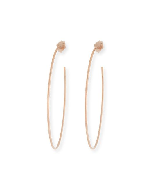 Lana Jewelry - Metallic 14k Wire Hoop Earrings - Lyst