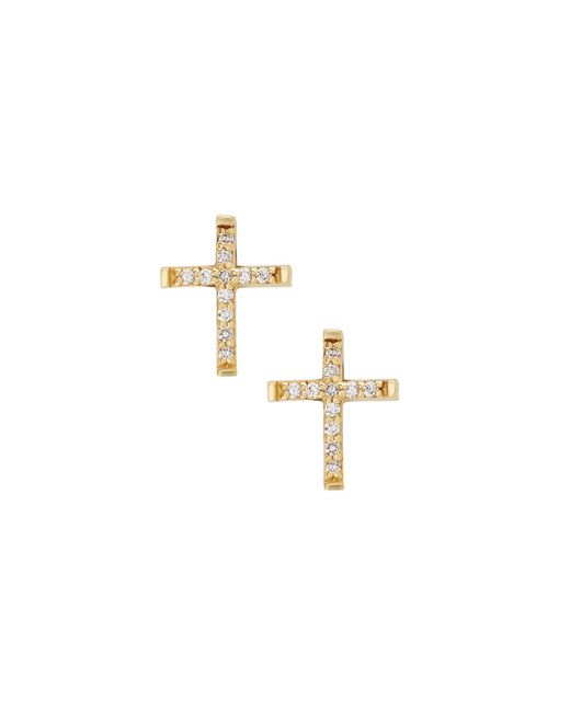 Lana Jewelry - Metallic Girls' Diamond Cross Stud Earrings - Lyst