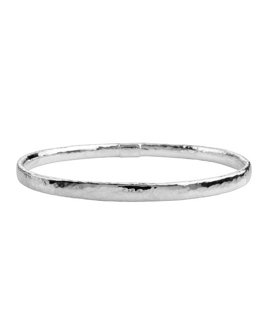 Ippolita | Metallic Thin Hammered Silver Bangle | Lyst